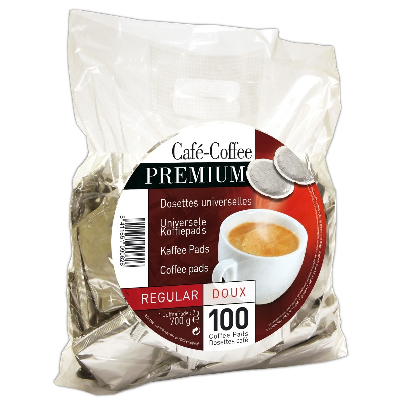 dosette souple caf premium r gular 100 pads coffee webstore. Black Bedroom Furniture Sets. Home Design Ideas