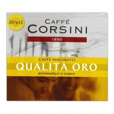 Café Moulu - Lot de 2 Paquets Caffè Corsini Qualita Oro - 500 gr