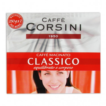 Café Moulu - Lot de 2 Paquets Caffè Corsini Classico - 500 gr