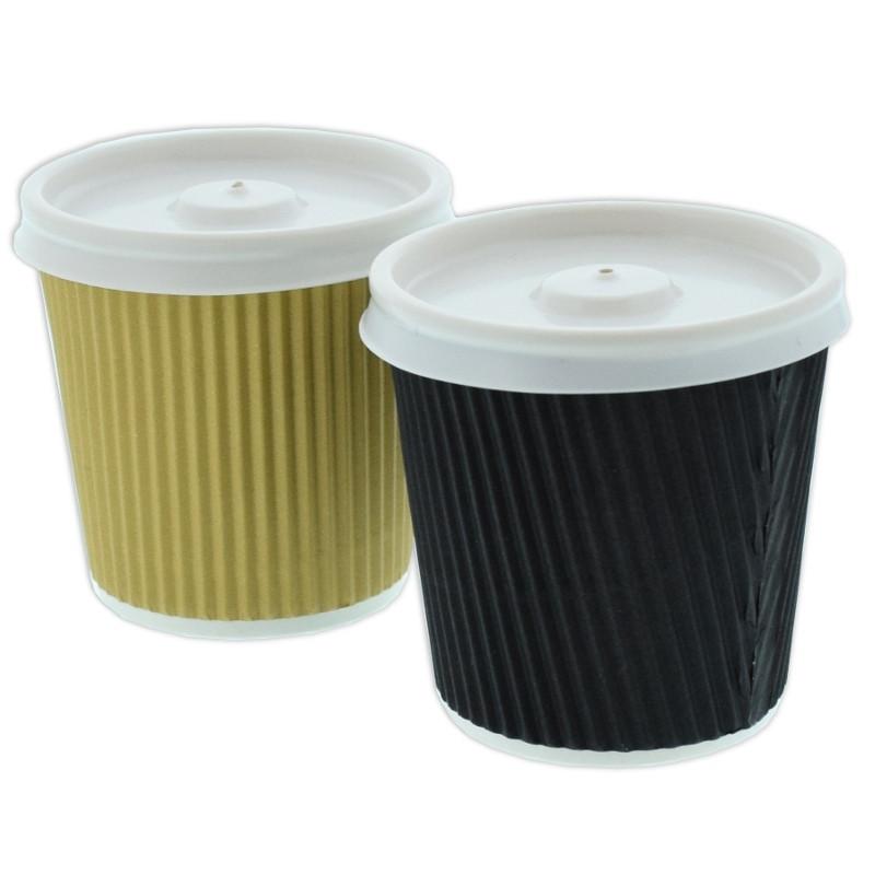 gobelet en carton avec couvercles double paroi 10 cl par. Black Bedroom Furniture Sets. Home Design Ideas