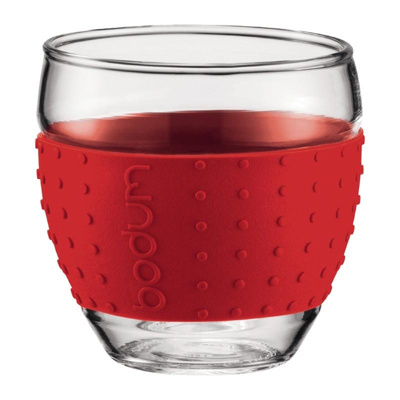 tasse bodum pavina verre expresso rouge 10 cl par 2 coffee webstore. Black Bedroom Furniture Sets. Home Design Ideas