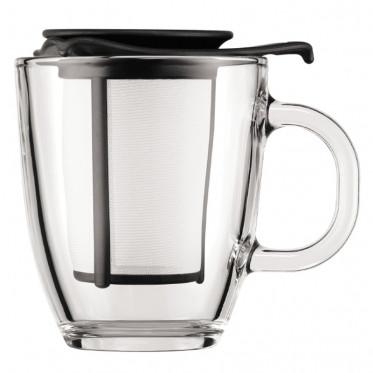 Tasse Bodum Yo-Yo Set Mug avec Filtre Noir 30 cl : 1 tasse