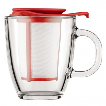 Tasse Budum Yo-Yo Set Mug avec Filtre Rouge 30 cl : l'unité