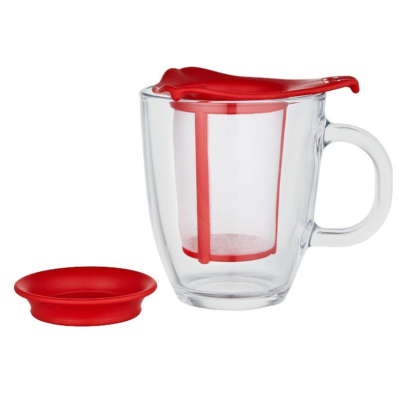 tasse bodum yo yo set mug avec filtre rouge 30 cl l 39 unit. Black Bedroom Furniture Sets. Home Design Ideas