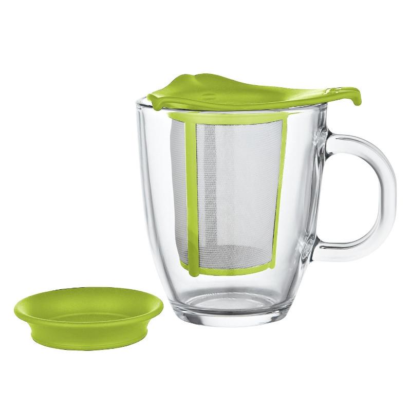 tasse bodum yo yo set mug avec filtre vert 30 cl l. Black Bedroom Furniture Sets. Home Design Ideas
