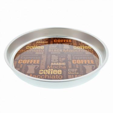 """Plateau à café """"Nuage de tags"""" : Marron - à l'unité"""