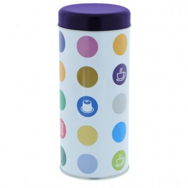 """Boite de conservation pour Dosettes """"Confettis"""" : Violet - environ 28 dosettes"""