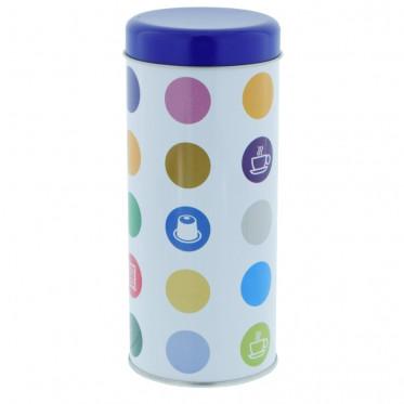 """Boite de conservation pour Dosettes """"Confettis"""" : Bleu - environ 28 dosettes"""
