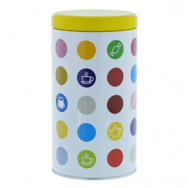 """Boite de conservation pour Café """"Confettis"""" : Jaune - 500 gr"""