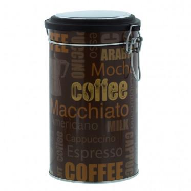 """Boite de conservation Hermétique pour Café """"Nuage de tags"""" : Marron - 500 gr"""