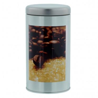 """Boite de conservation pour Café """"Instant Café"""" : Décor Grains - 500 gr"""