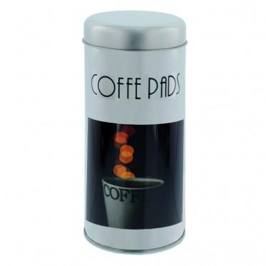 """Boite de conservation pour Dosettes """"Instant Café"""" : Décor Arôme - 28 Dosettes"""