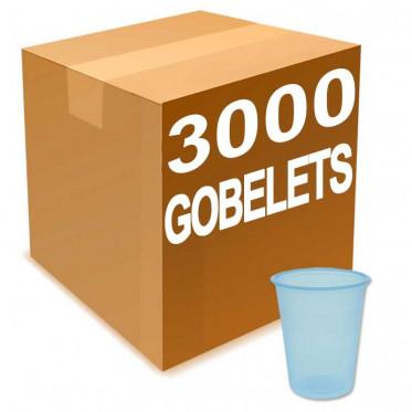 Gobelet en Gros à eau en Plastique Bleu Transparent 20 cl - par 3000