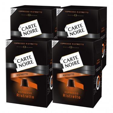 """Capsule Nespresso Compatible Carte Noire n°10 Espresso """"Ristretto"""" 4 boites - 40 capsules"""