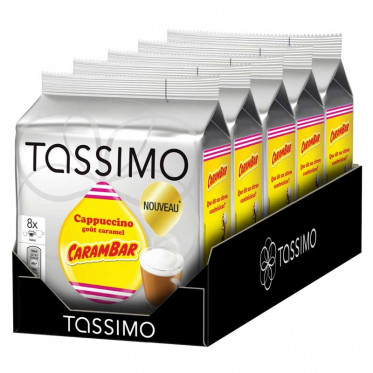Capsule Tassimo Cappuccino goût Carambar 5 paquets - 40 T-discs