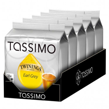 Capsule Tassimo Thé Twinings Earl Grey 5 paquets - 80 T-Discs