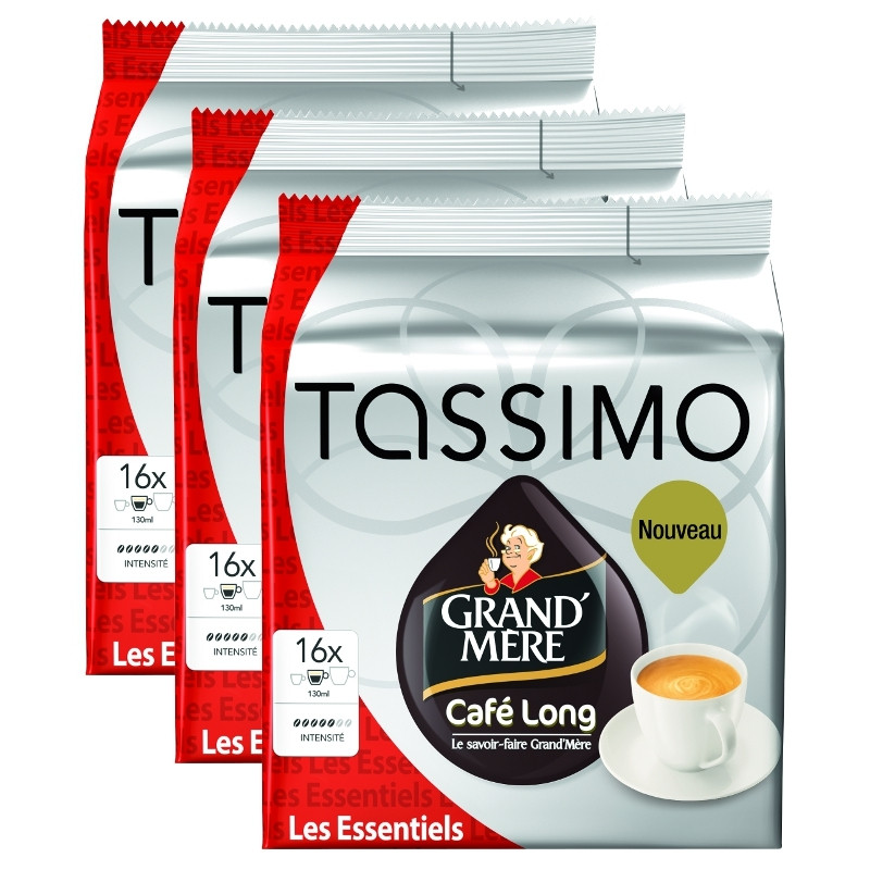 capsule tassimo grand 39 m re caf long 3 paquets 48 t discs coffee webstore. Black Bedroom Furniture Sets. Home Design Ideas
