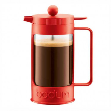 cafeti re piston bodum bean rouge 1l cuill re doseuse coffee webstore. Black Bedroom Furniture Sets. Home Design Ideas
