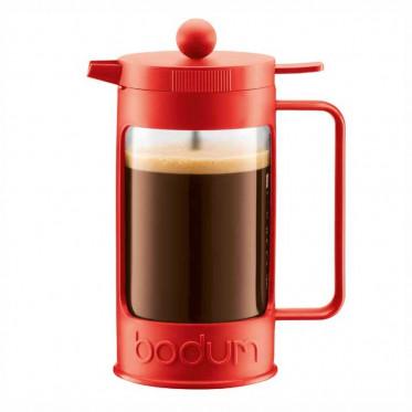 Cafetière à Piston Bodum : Bean Rouge 1L + cuillère doseuse
