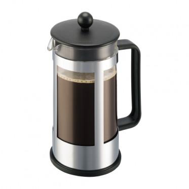 Cafetière filtre / Piston Bodum : Kenya Gris Métal 1L + cuillère doseuse