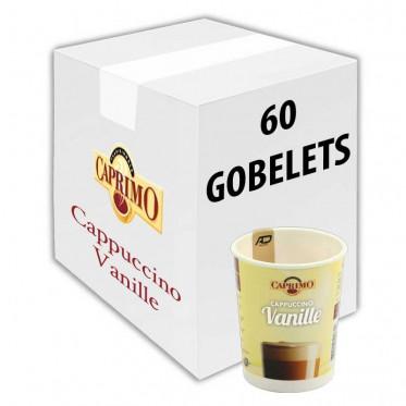 Gobelet Pré-dosé Premium au carton Caprimo Cappuccino Vanille - 60 Boissons