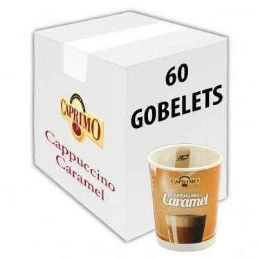 Gobelet Pré-dosé Premium au carton Caprimo Cappuccino Caramel - 60 Boissons