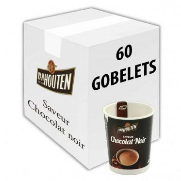 Gobelet Pré-dosé Premium au carton Van Houten Saveur Chocolat Noir - 60 Boissons