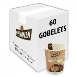 Gobelet pré-dosé premium au carton Van Houten Saveur chocolat blanc praliné 60 gobelets