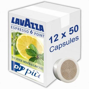 Capsule Lavazza Espresso Point Thé Verde Menta a Limone - 12 boites - 600 capsules