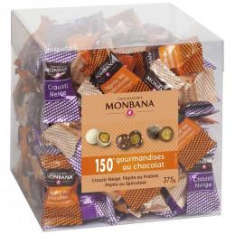 Chocolat accompagnement cafe Maxi-Box Crousti Neige, Pépite au praliné, Pepite au Spéculoos