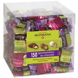 Monbana Maxi-Box Amande Cacaoté, Pralinéa et Crousti Neige