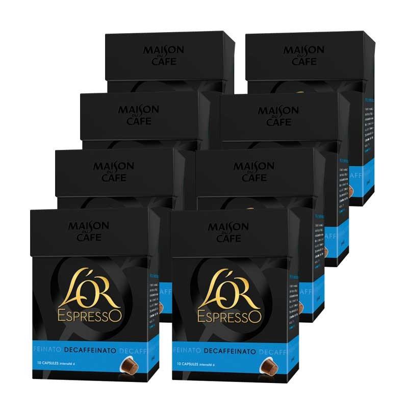 capsule nespresso compatible l 39 or espresso deca 8 boites 80 capsules. Black Bedroom Furniture Sets. Home Design Ideas