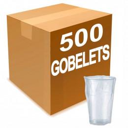 Gobelets en gros en Plastique Sous Emballage Individuel 25 cl x 500 gobelets