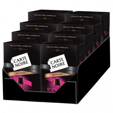 """Capsule Nespresso Compatible Carte Noire n°9 Espresso """"Intense"""" 8 boites - 80 Capsules"""