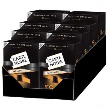 "Capsule Nespresso Compatible Carte Noire n°8 Café Long ""Fortissime"" 8 boites - 80 Capsules"