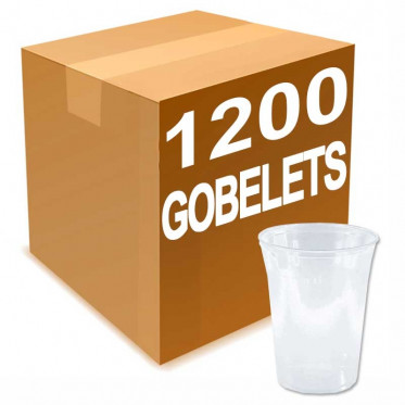 Gobelet en Gros en Plastique Transparent 40 cl - par 1200