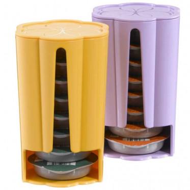 distributeur capsules tassimo jaune violet 2 x 8 t discs coffee webstore. Black Bedroom Furniture Sets. Home Design Ideas