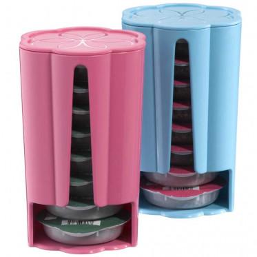 Distributeur Capsules Tassimo : Rose - Turquoise - 2 x 8 T-Discs