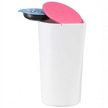 Accessoires Tassimo : Poubelle de table pour T-Discs Tassimo - Rose - 9 T-Discs