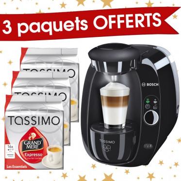 Machine Tassimo Amia Noire : Bosch TAS2002 + 3 paquets Grand'Mère expresso offerts