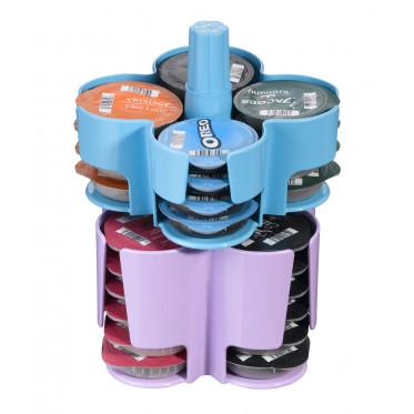 Distributeur Capsules Tassimo : Caroussel Bleu - Violet - 40 T-Discs