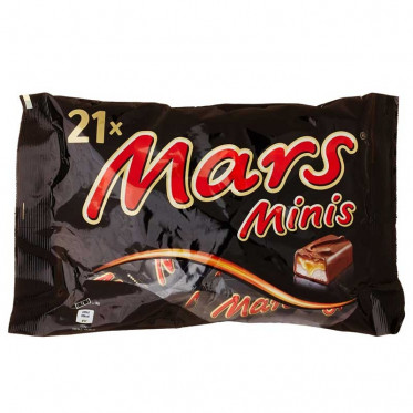 Barre Chocolatée : Sachet de Minis Mars - 21 pièces
