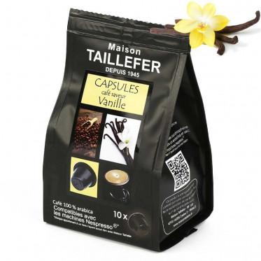 Capsule Nespresso Compatible Maison Taillefer Café Vanille - 10 capsules