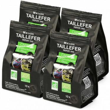 Capsule Nespresso Compatible Maison Taillefer Café Pur Arabica Pérou 4 paquets - 40 capsules