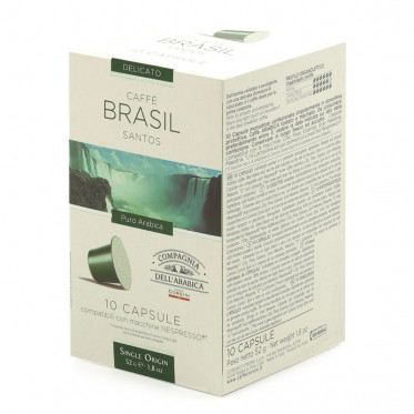 Capsule Nespresso Compatible Cie Dell'Arabica Brasil - 10 capsules