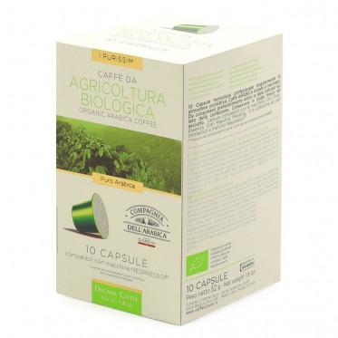 Capsule Nespresso Compatible Cie Dell'Arabica Agriculture Bio - 10 capsules