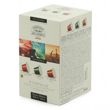 Capsule Nespresso Compatible Cie Dell'Arabica Sélection Pur Arabica - 9 capsules