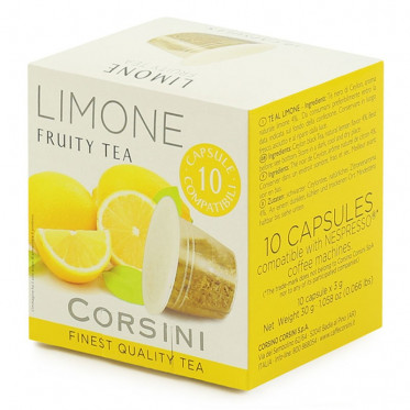 Capsule Nespresso Compatible Corsini Thé Citron - 10 capsules