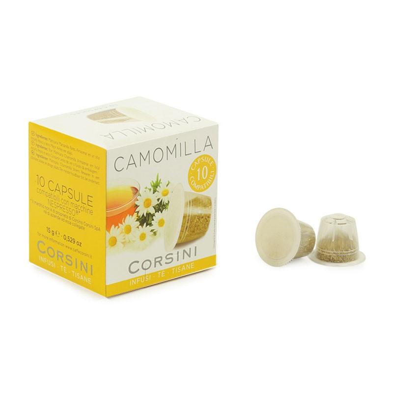 capsule nespresso compatible corsini infusion camomille 10 capsules coffee webstore. Black Bedroom Furniture Sets. Home Design Ideas