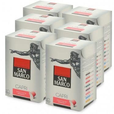 """Capsule Nespresso Compatible San Marco Capri """"Fruttato"""" - 6 boites - 60 capsules"""